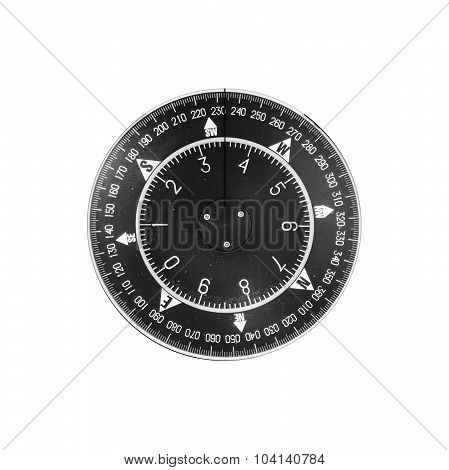 Black Modern Nautical Compass Deal Isolated