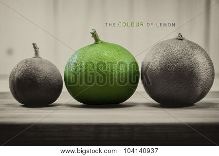 Abstract Color Lemons On Wooden Boards Retro Style, Use Font From Google Free.