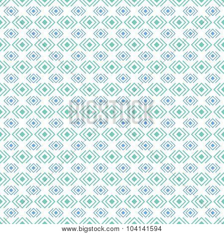 Geometric diamond shape seamless pattern, vector