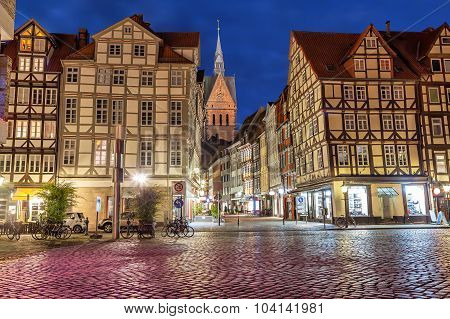 Half-timbered Buildings Of Old Town In Hannover