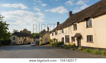 Broadhembury village East Devon England uk with thatched cottages in the Blackdown Hills
