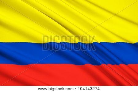Flag Of Republic Of Colombia, Santa Fe De Bogota