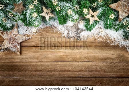 Christmas Background In Natural Style