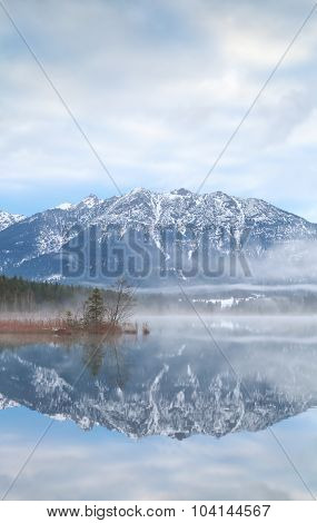 Mountains Reflected In Alpine Lake
