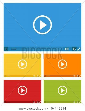 Set Of Web Video Players