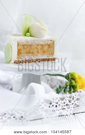Pear cake with ricotta cheese