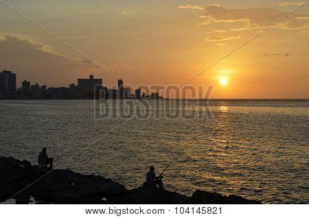 Sunset in Havana (Cuba)