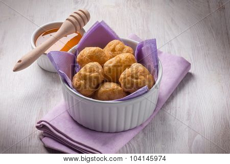 bignole typical italian carnival dessert