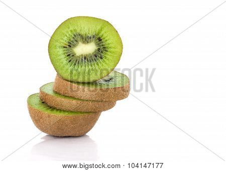 Sliced Kiwi Fruit Stack