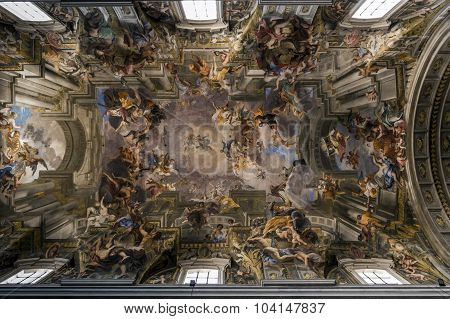 Church Of Sant'ignazio Di Loyola In Rome, Italy.