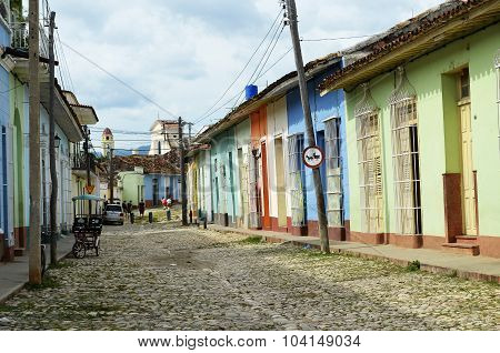 Colorful street in Trinidad (Cuba)
