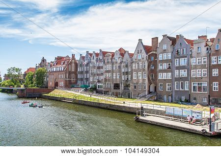 Quay of the old town and pier in Gdansk