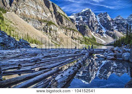Logs of Moraine Lake