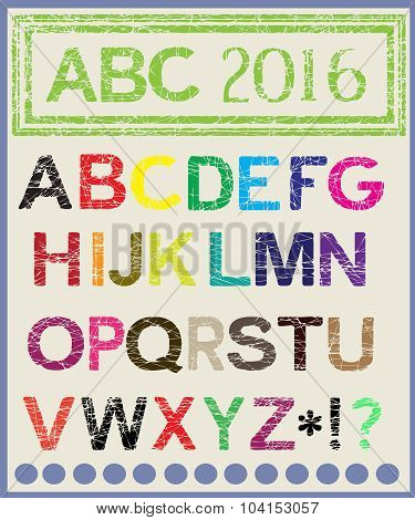 The multi-colored alphabet which will lighten mood.