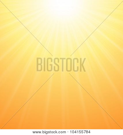 Abstract Orange Sky Background Sun Rays