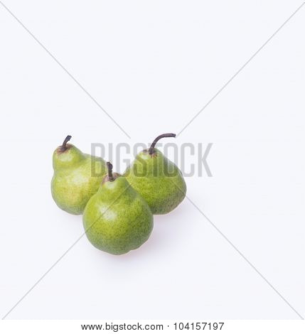 Pears Or Three Pears On A Background.