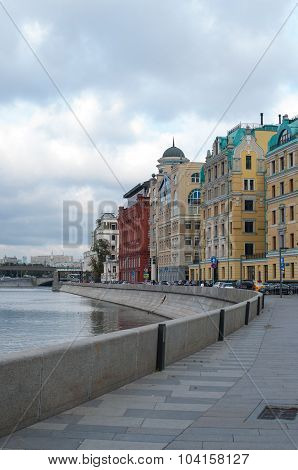 Bank Of Moskva River In Autumn