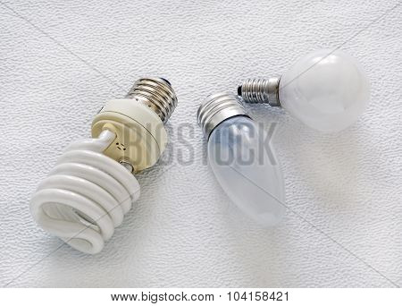 Light, Bulbs, Close-up