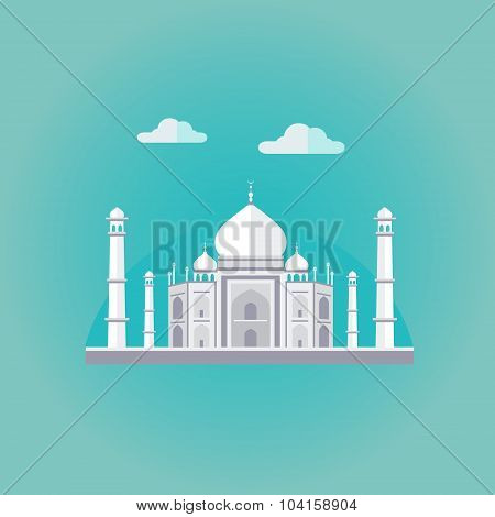 Taj Mahal Vector Illustration