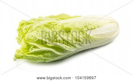Fresh Chinese Cabbage Isolated On A White Background