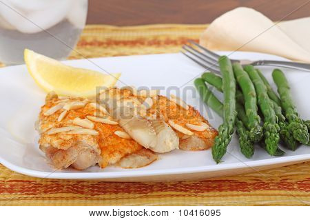 Fish Fillets And Asparagus