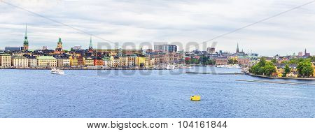 Stockholm, cityscape from the port.