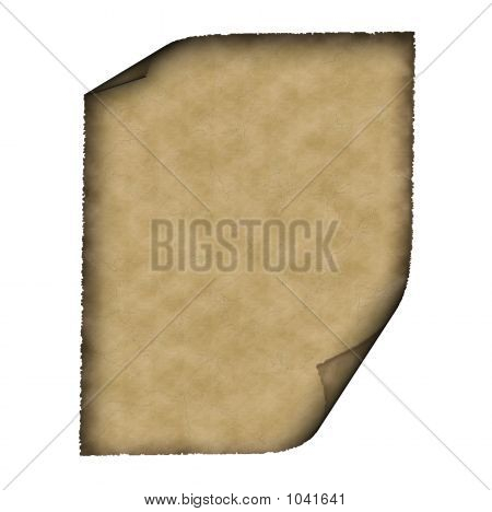 Vintage Grunge Rolled Parchment