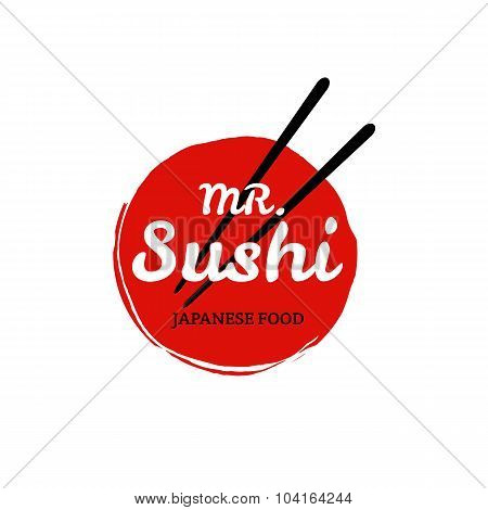 Sushi Logo On White Bacground. Vector Format