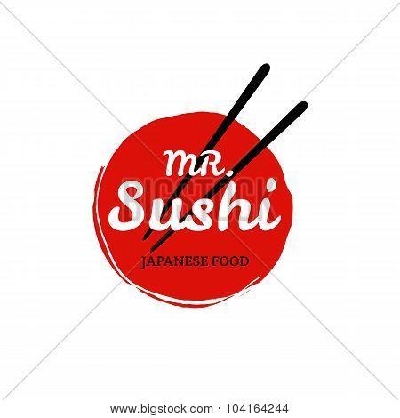 Sushi Logo On White Bacground. Vector Format