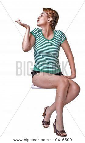 Gesticulating  Girl