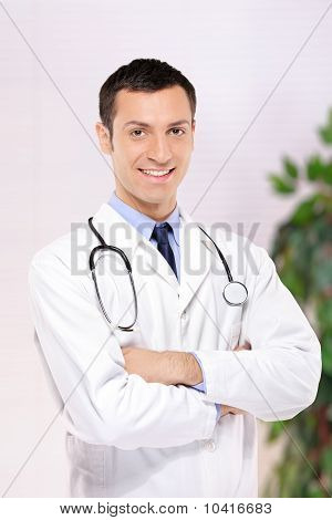 Portrait Of A Medical Doctor Posing In The Office