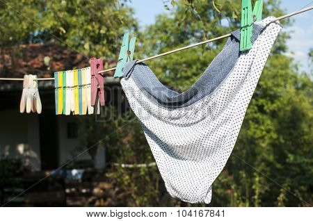 Clothesline clips and panties