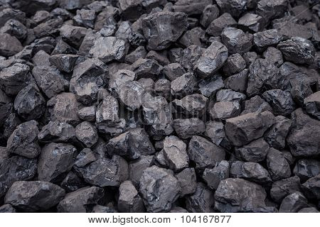 Coal Mineral Brown Cube Stone Background