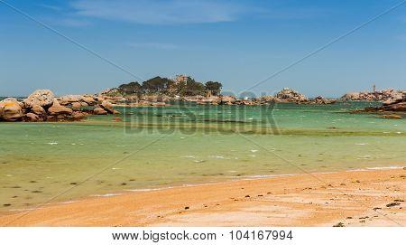 scenic coastal landscape of Bretagne northern France