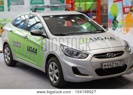 MOSCOW - OCT 30, 2014: Center of traffic management Car at exhibition city transport ExpoCityTrans 2014
