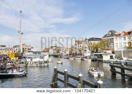 Netherlands - Leiden - October 3, 2015: Celebration Of The Siege Of Leiden.