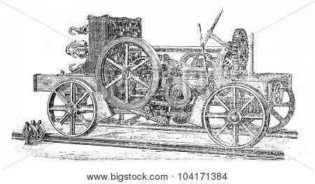 Runner, vintage engraved illustration. Industrial encyclopedia E.-O. Lami - 1875.