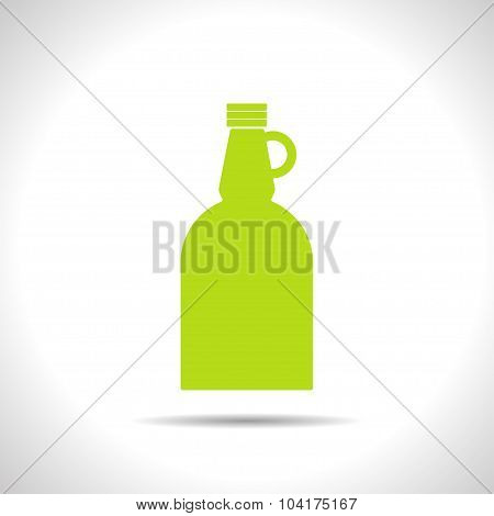 Vector flat apple cider vinegar bottle template