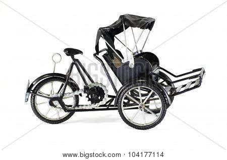 Tricycle On White Background
