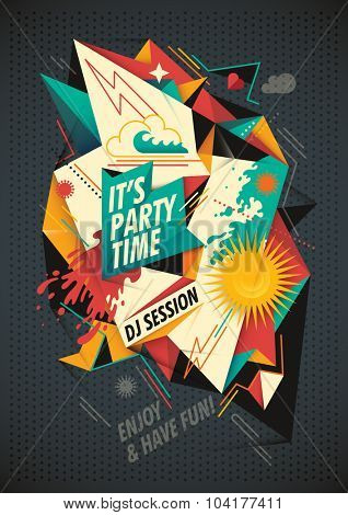Party background with abstract composition. Vector illustration.