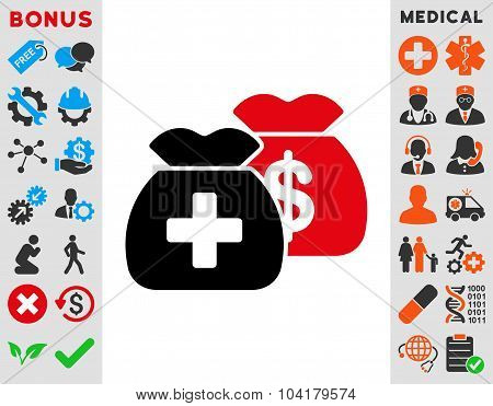 Health Care Funds Flat Icon