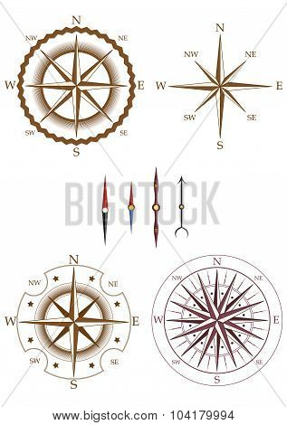 Set Of Compass Elements