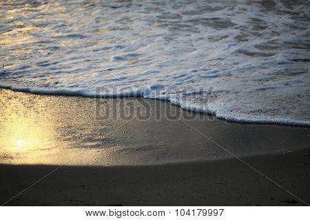 ocean during sundown