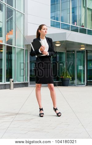 Young business woman portrait outdoors