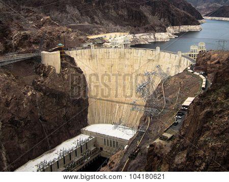 Hoover Dam Built On Lake Mead Las Vegas,nevada