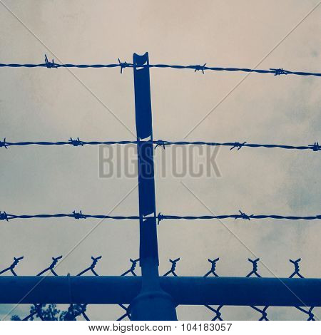 Barbed wire fence - Instagram filtered