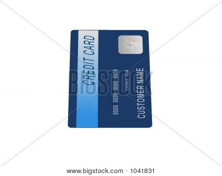 Mock Blue Credit Card 2