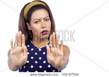 Woman Holding Hands Out
