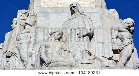 Bas-reliefs of Brivibas piemineklis