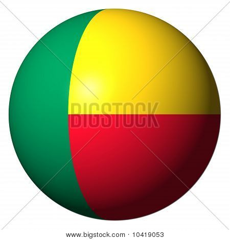 Benin Flag Sphere Illustration